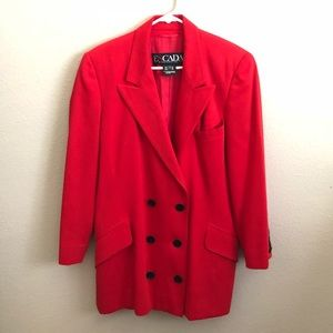 Vintage ESCADA Margaretha Ley Red Wool Blazer